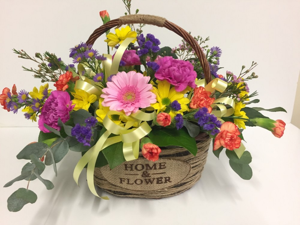 Flower Basket Arrangements Uk : Home and flower basket arrangement hillmans florist